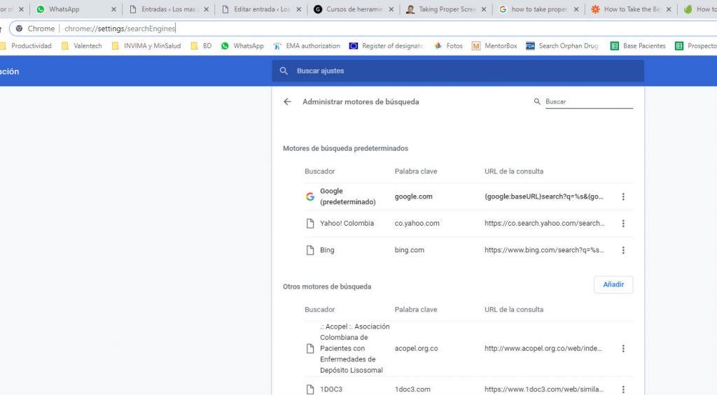 Configuracion Google Chrome - losmasproductivos.com